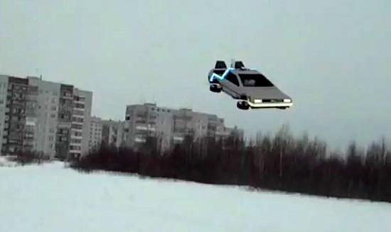 Летающий автомобиль из фильма Назад в будущее