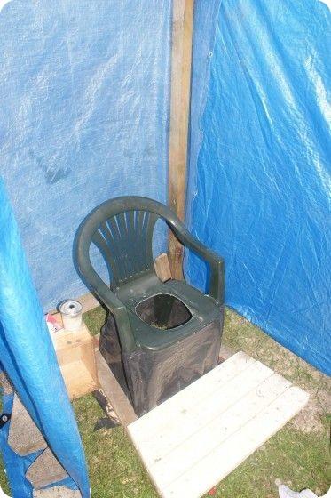 Временный туалет на даче