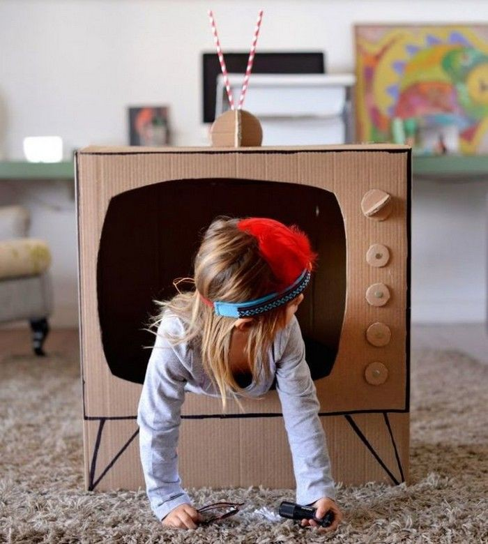 Как сделать телевизор с детьми