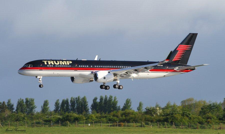 Внутри частного самолёта Дональда Трампа