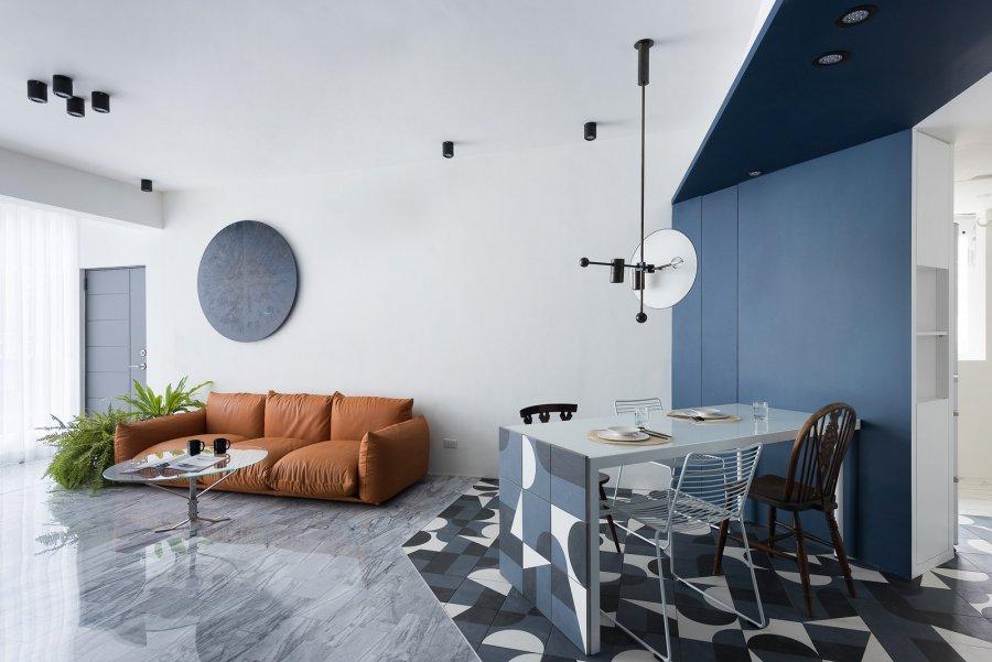 Диагональный дизайн квартиры на Тайване